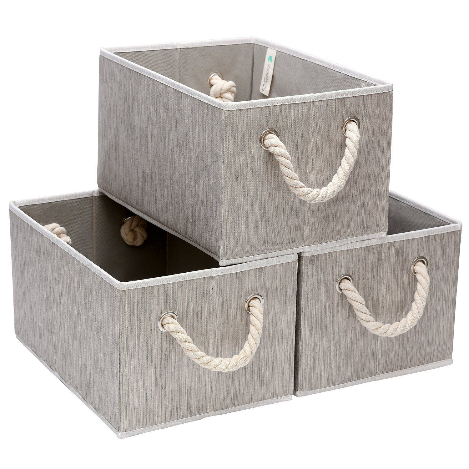 Storageworks Polyester Storage Box With Strong Cotton Rope Handle