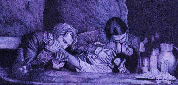 "Dessin de Morgana Beltane d'une scène tirée du film ""Entretien Avec Un Vampire"" #artwork #drawing #vampires"