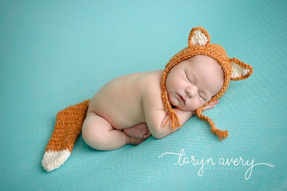 Newborn fox photo prop crochet fox hat www facebook com crochet