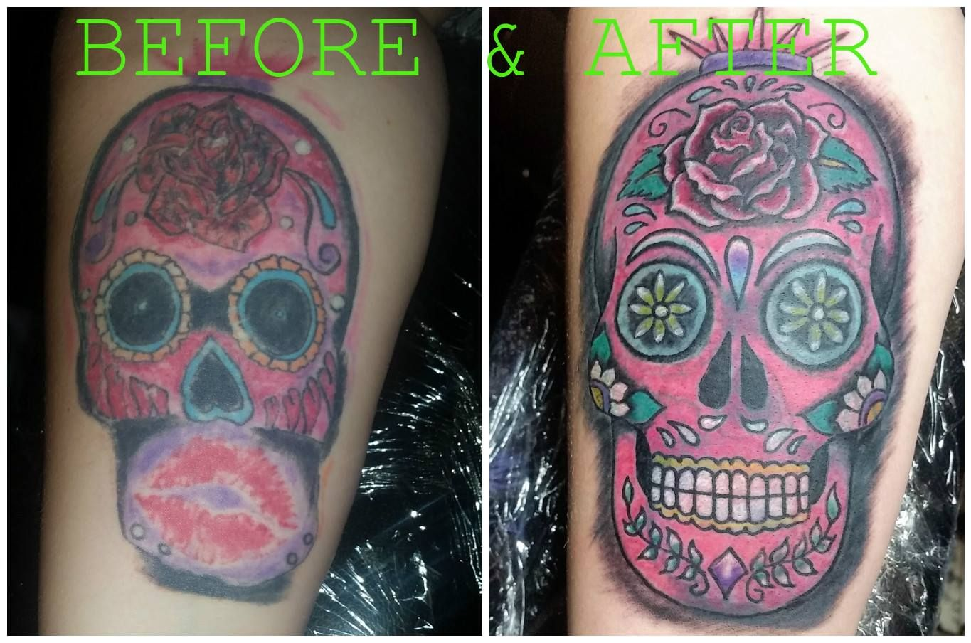 Rework Coverup Thiscanbedone Tattoo Colorblasted Color Tattoo Somuchbetter Studio13tattoomg Tattoos Skull Tattoo Cover Up