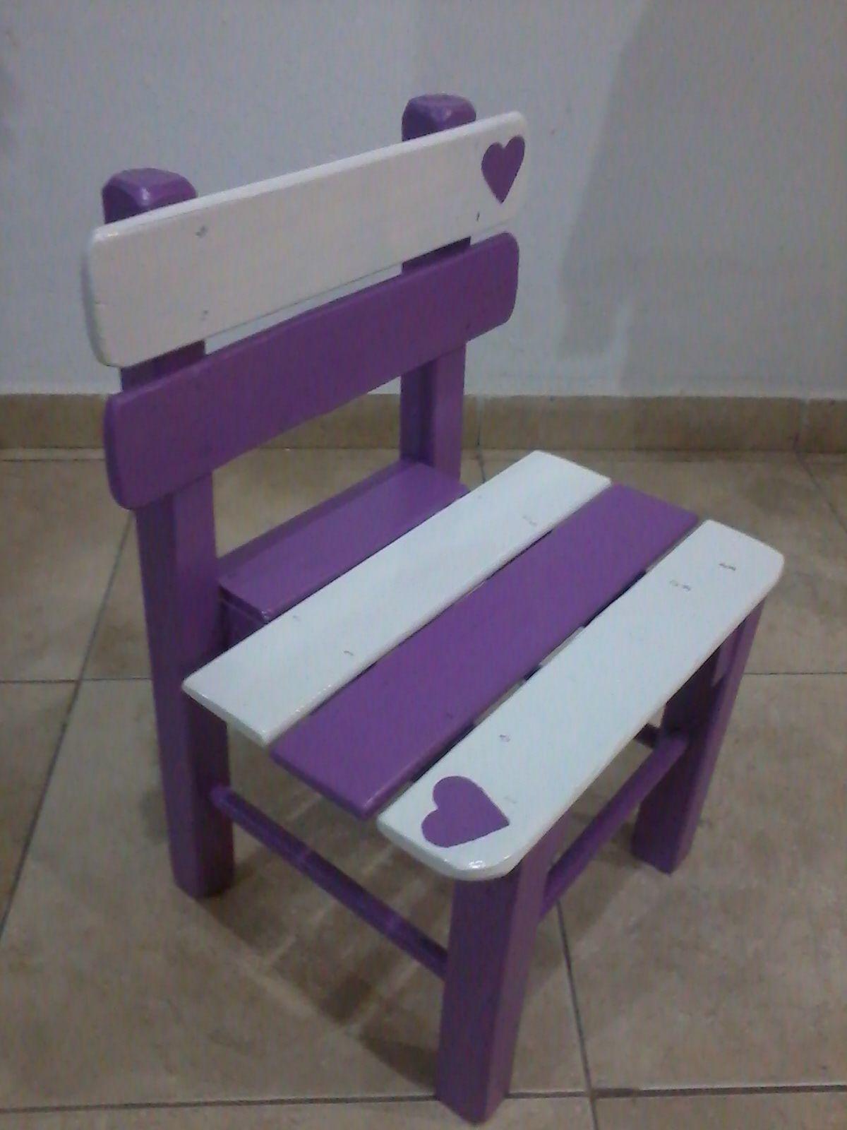 Kids Furniture Sillita Cruda O Pintada A Pedido