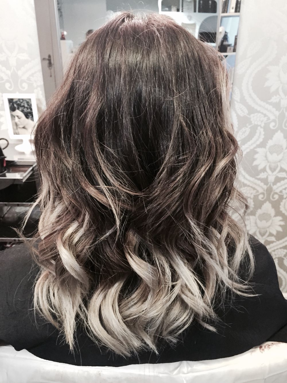 My Favourite Ombre So Far Ash Brown And Silver 3 Hair Styles Curly Hair Styles Naturally Brown And Silver Hair