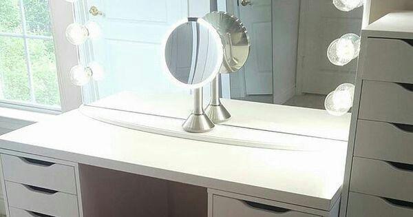 Ikea Schminkspiegel schminktisch ikea alex schubladenschränke mit beleuchtetem
