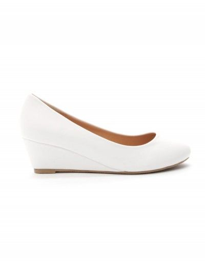 femme Style compensée ShoesEscarpin blanc Chaussures D9I2EH