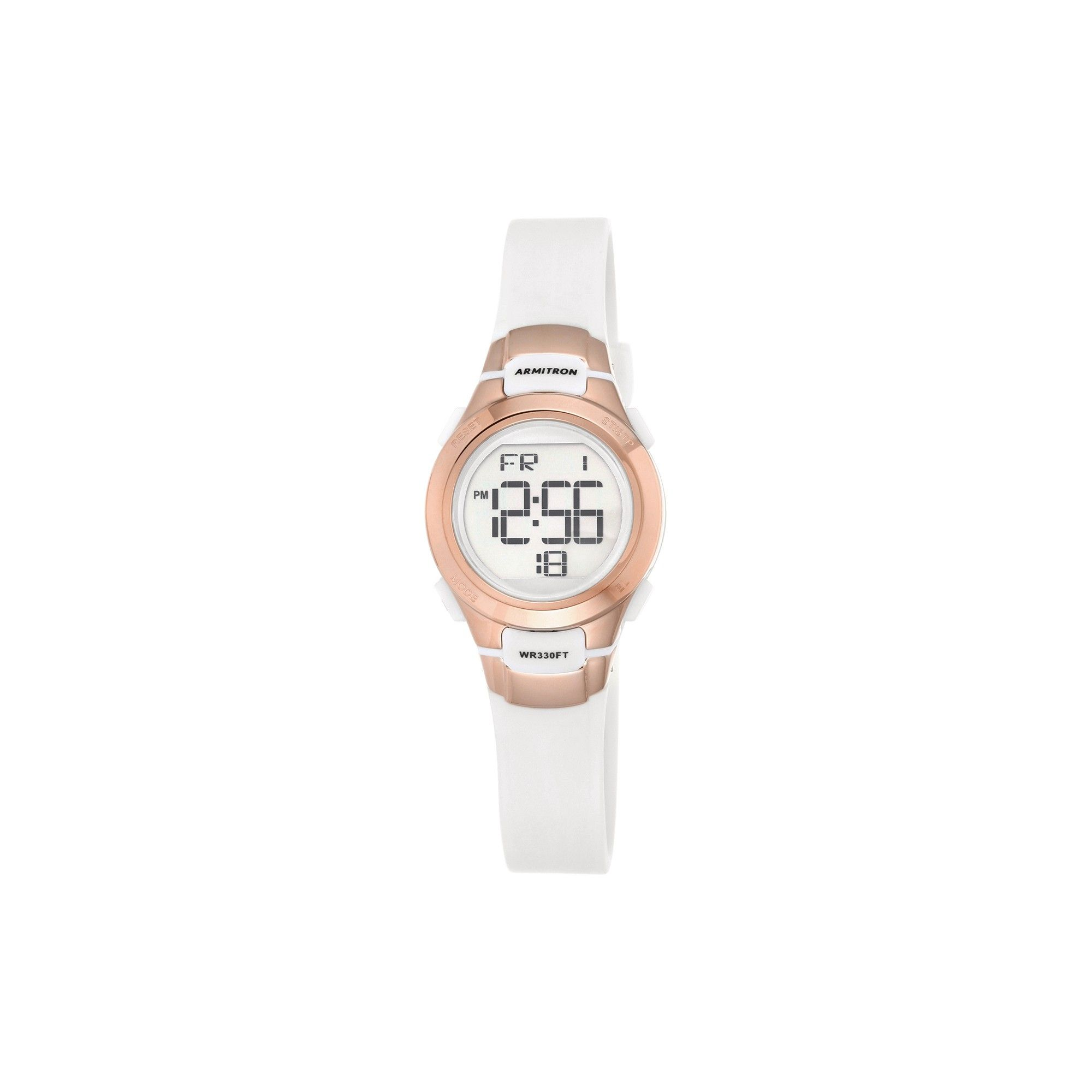 Women's Armitron ProSport White Digital Watch Rosegold