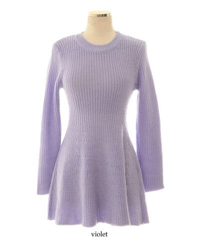Purple Snow Sweater Dress - MOCONANA I WANT TO BUY THIS for my ...