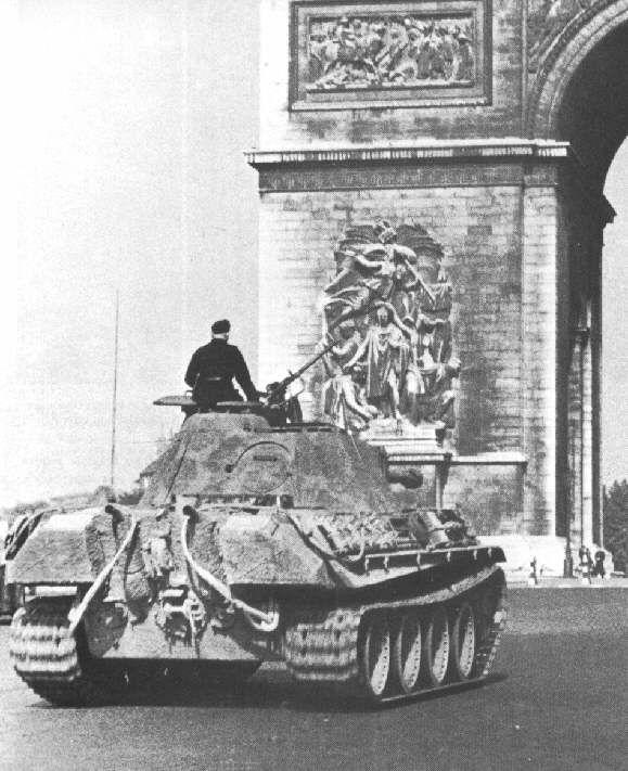 Deutscher Panzer - V Panther (Sdkfz 171), In Paris, (Arc De Triomphe,Deutsches Reich,Wehrmacht,2 Wk)