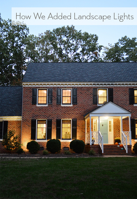 How We Added Landscape Lighting   Young House Love