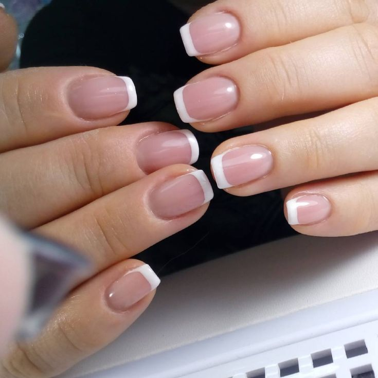 90+ french tip acrylic nails square 2018 | Pinterest | Acrylics ...