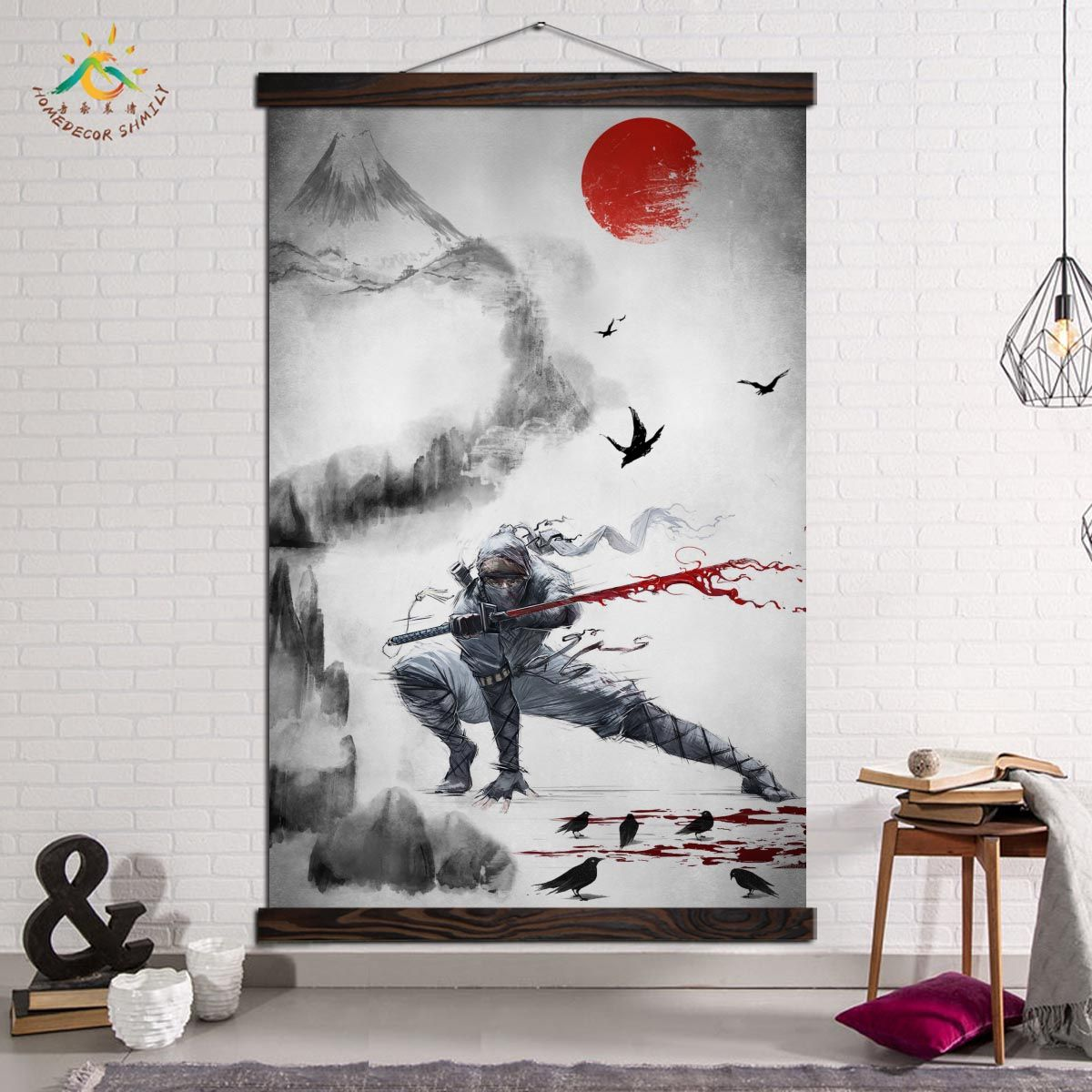 Wall Art Prints And Posters Modern Art Canvas Painting Poster Vintage Wall Art Pictures Home Decoration Dark Cool Ninja Samurai In 2020 Modern Canvas Art Modern Art Canvas Painting Wall Art Pictures