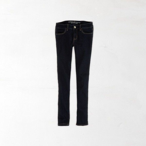 AEO Factory Jegging (Jeans) ($25) ❤ liked on Polyvore featuring jeans, rinse indigo and american eagle outfitters