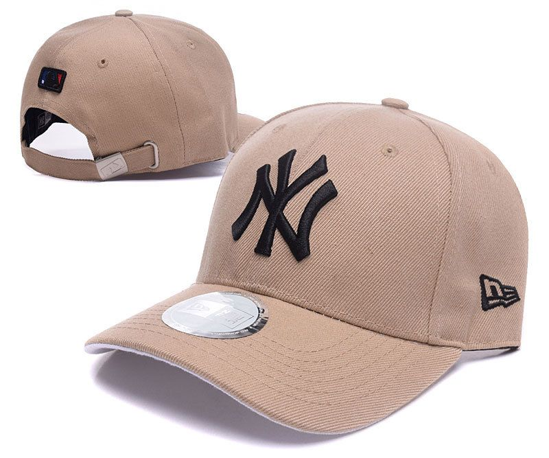 Men s   Women s New York Yankees New Era Classic 3D NY Logo MLB Baseball  Adjustable Hat - Sand   Black 090f1e9ec593