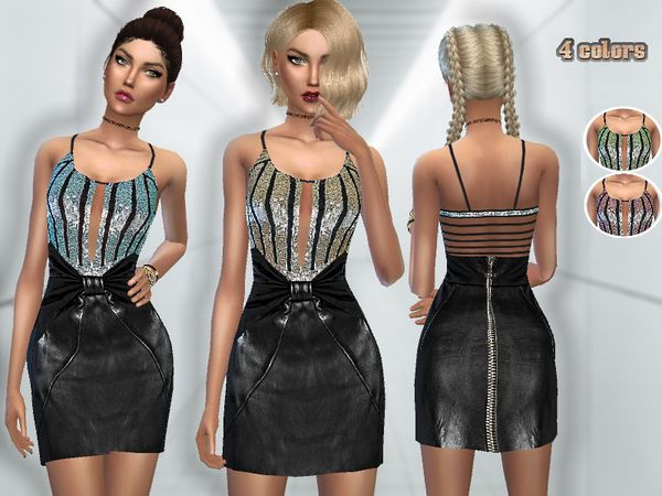 Puresim's Sequin & Leather Dress