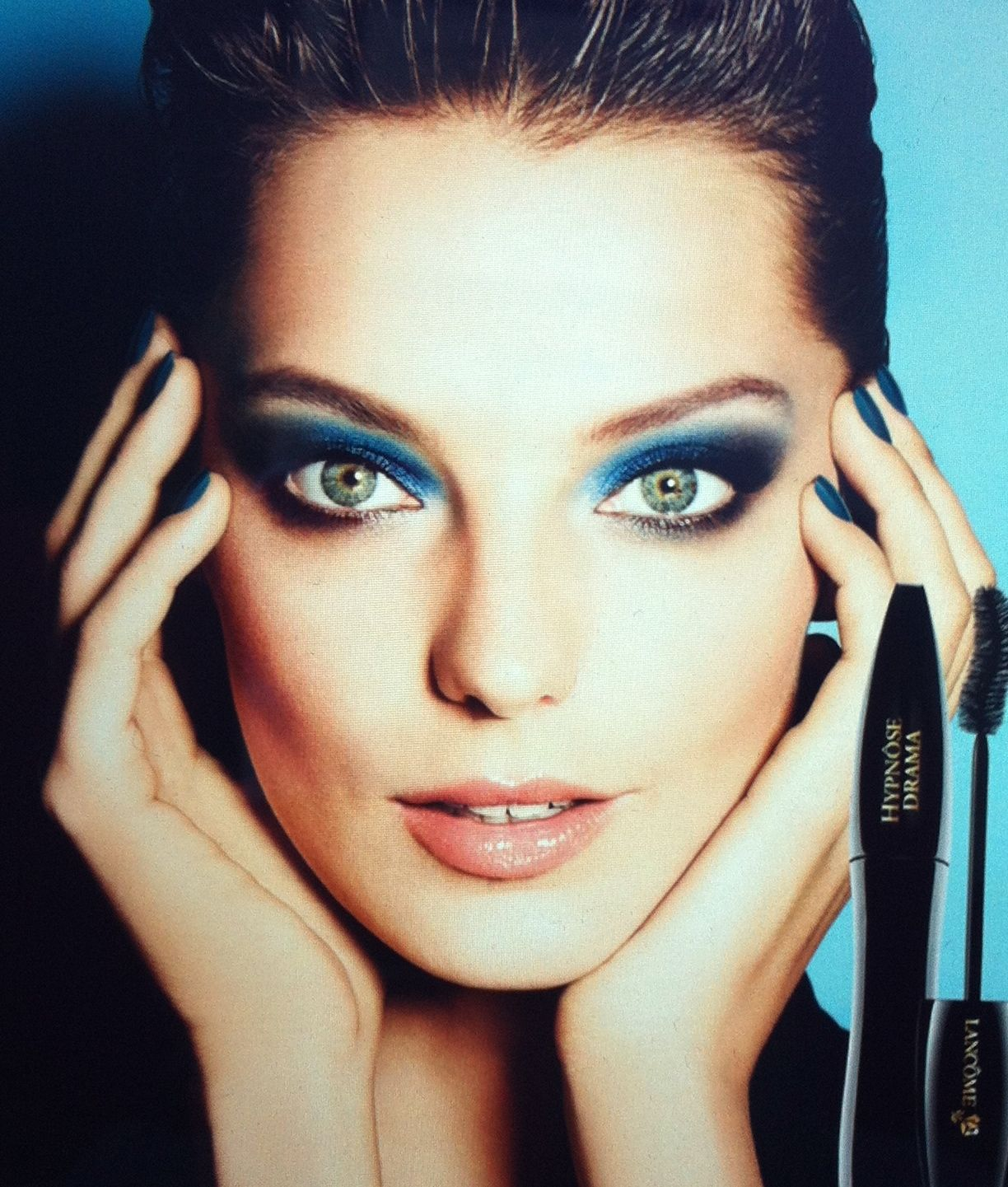 Daria Werbowy Lancome: Black And Blue (With Images)