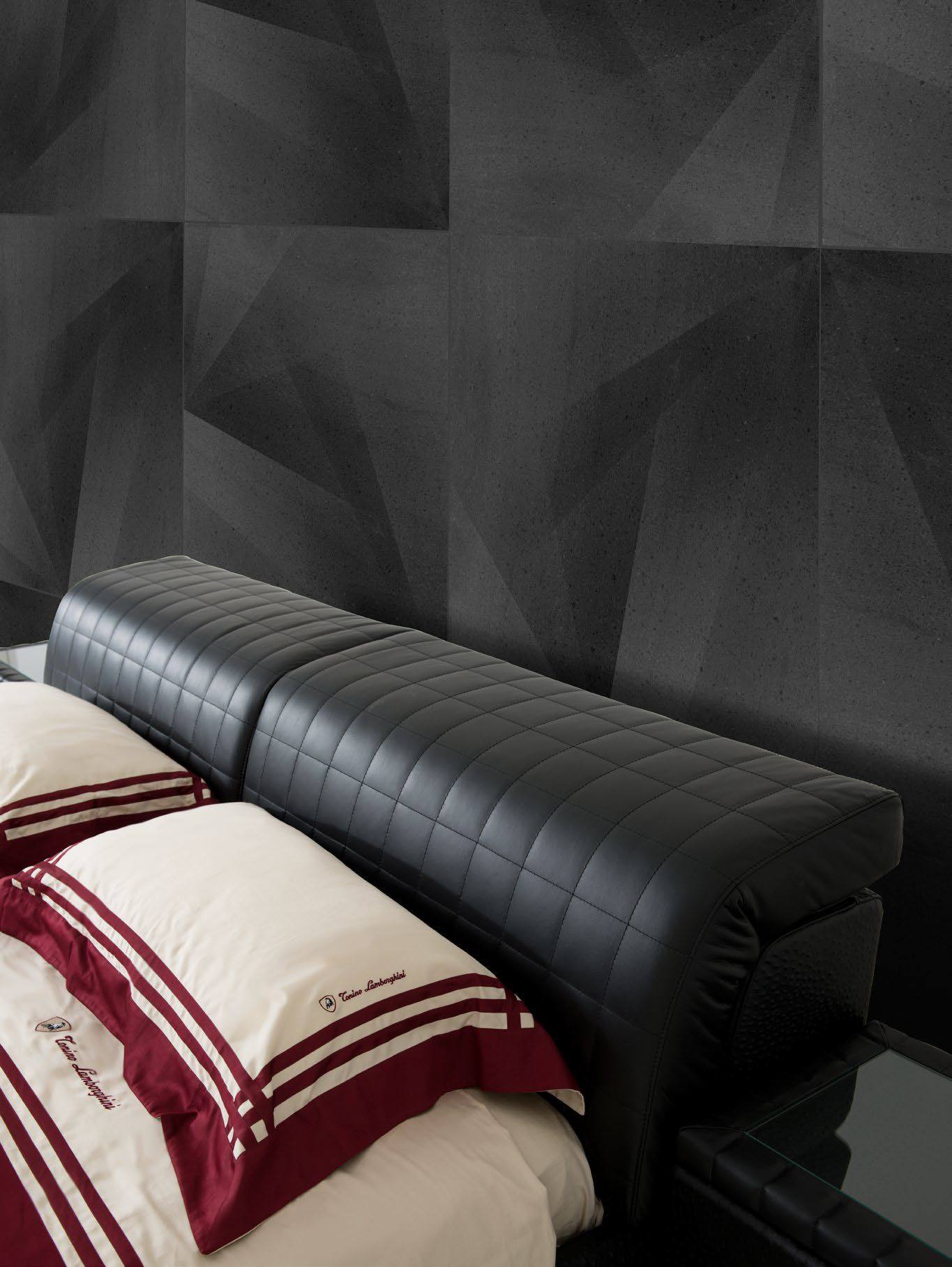 Download the catalogue and request prices of Brisbane | bed By tonino lamborghini casa, leather double bed with adjustable headrest, brisbane Collection