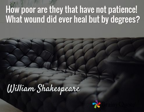 William Shakespeare Quotes Shakespeare And Patience