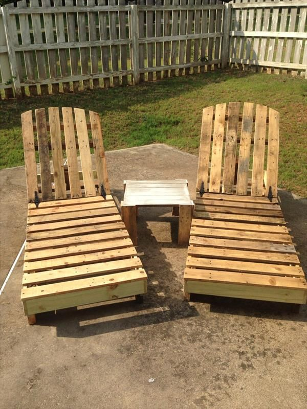 DIY Recycled Pallet Lounge Chairs  #Pallet-Furniture
