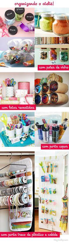 Organize o seu ateliê com criatividade via @Tanlup