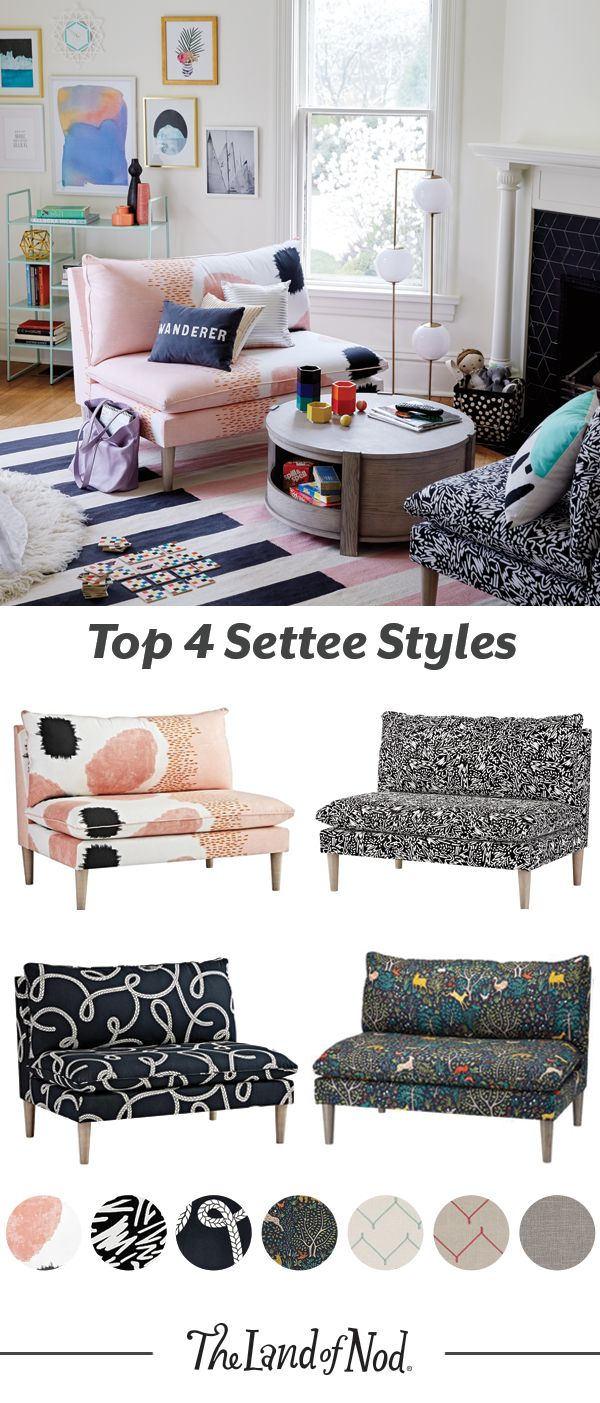 Settees And Sofas Will Add Instant Life To A Living Room Or Shared E Go For Ones With Lots Of Prints Colors These Kid Friendly Furniture Styles