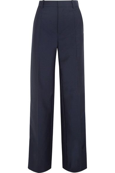 Ferdy Wool And Mohair-blend Wide-leg Pants - Navy Joseph Q3tShE