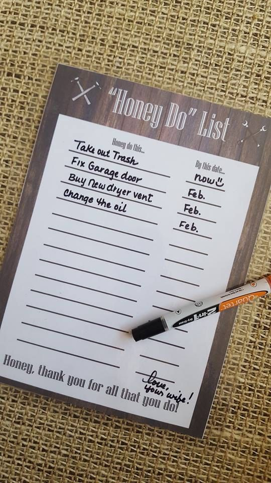 printable honey do list