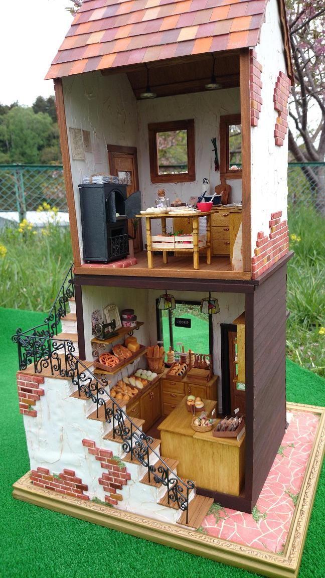 """画像をクリックするとウィンドウを閉じます (For detailed bakery/shop pics, please see my """"DollHouse Shops, Restaurants, Carts  Stands Scenes"""" board)"""