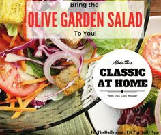 Addicted to this famous salad? The sweet and tangy dressing keeps restaurant goers coming back time and time again! Make it at home without tipping, and without the hassle! Impress family and friends with this Olive Garden salad recipe!  #olivegardensalad #famousrecipes #lowcarb
