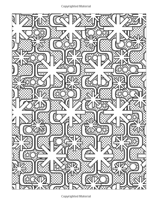 Creative Haven GEOMETRIC DESIGNS Coloring Book: Deluxe Edition ...