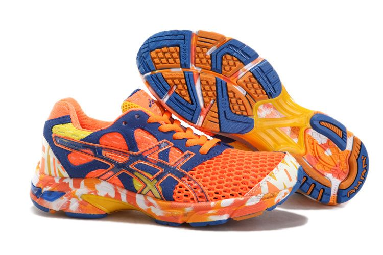 Asics Gel Noosa Tri 7 Women's Running Shoes Neon Orange Dark Blue Orange  White
