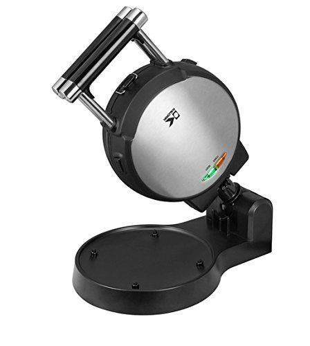 Stainless Steel Belgian Waffle Maker with Detachable Plates NonStick Surface Dimensions 75x15x485 Black >>> For more information, visit image link.