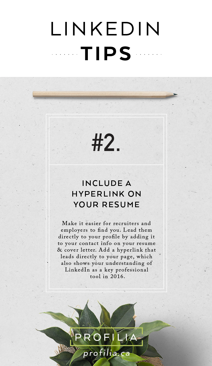 LinkedIn tips from Profilia CV #jobhunting #linkedin | Resume ...