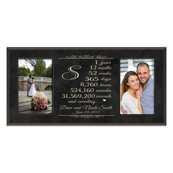 First Wedding Anniversary Gifts For Her: Personalized 1st Anniversary Gift For Him,First