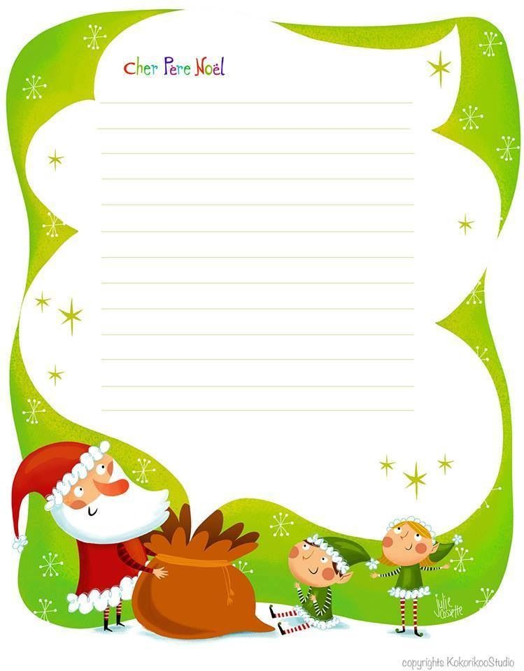 Lettre Pour Le Pere Noel.Papier à Lettre Pour Le Père Noël Christmas Christmas