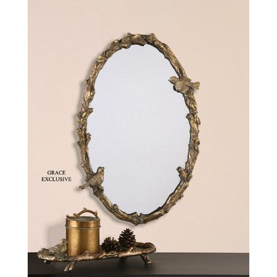 You Ll Love The Eliana Oval Mirror In Antique Gold Leaf At Wayfair Great Deals On All Décor Products With Free Ship Oval Mirror Oval Wall Mirror Gold Mirror