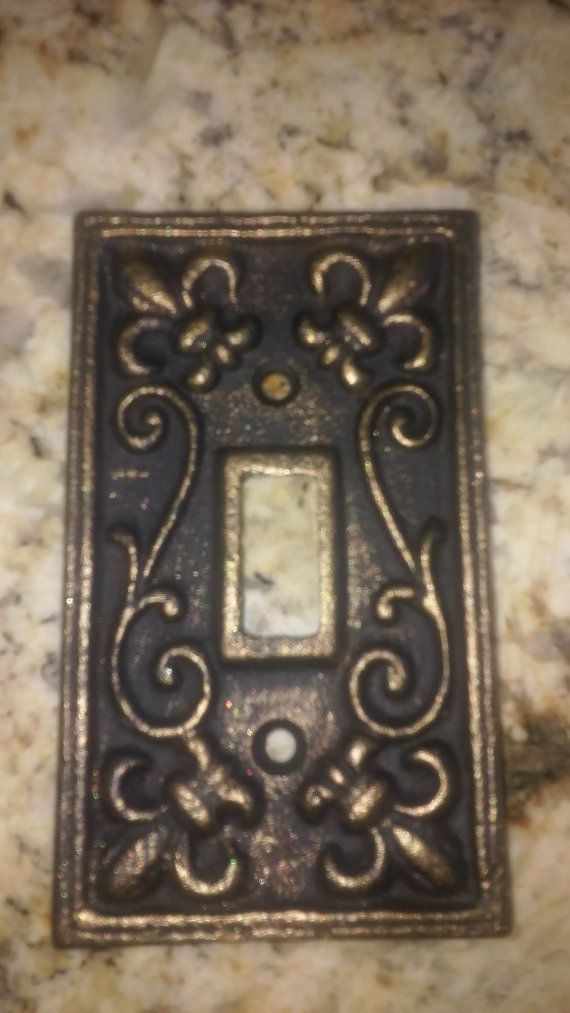 Switch plate single light switch free usa shipping single switch plate single light switch free usa shipping single switch cover old world tuscan fleur de lis royal fleurdelisjunkie sciox Image collections
