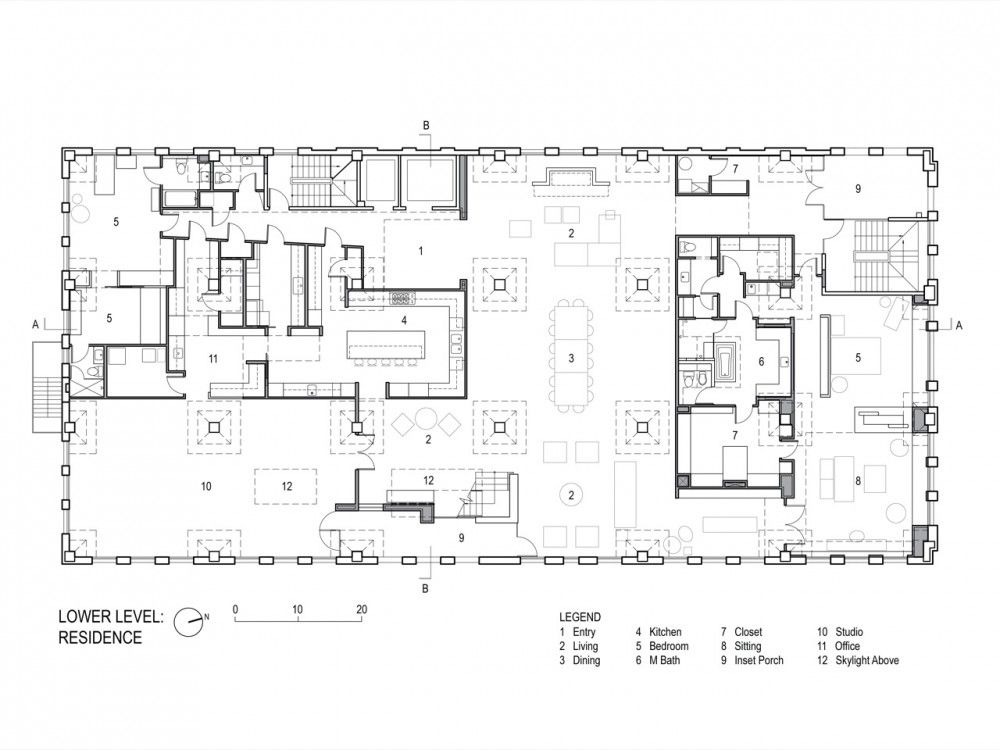 Galeria de loft de un coleccionista poteet architects for Urban loft floor plan
