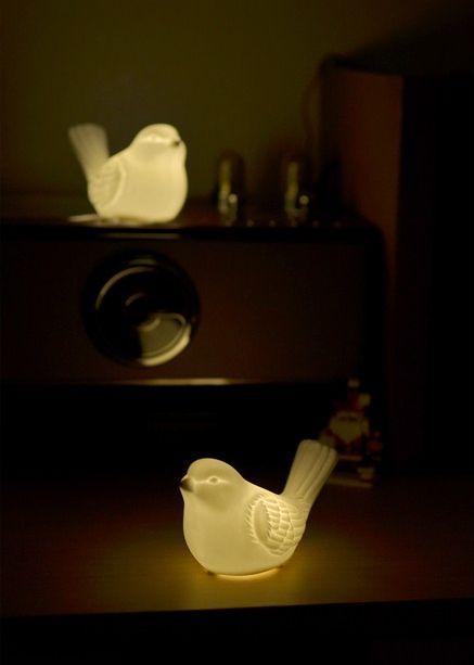 [바보사랑] 참새모양의 귀여운 LED 무드등 #무드등 #스탠드 ...