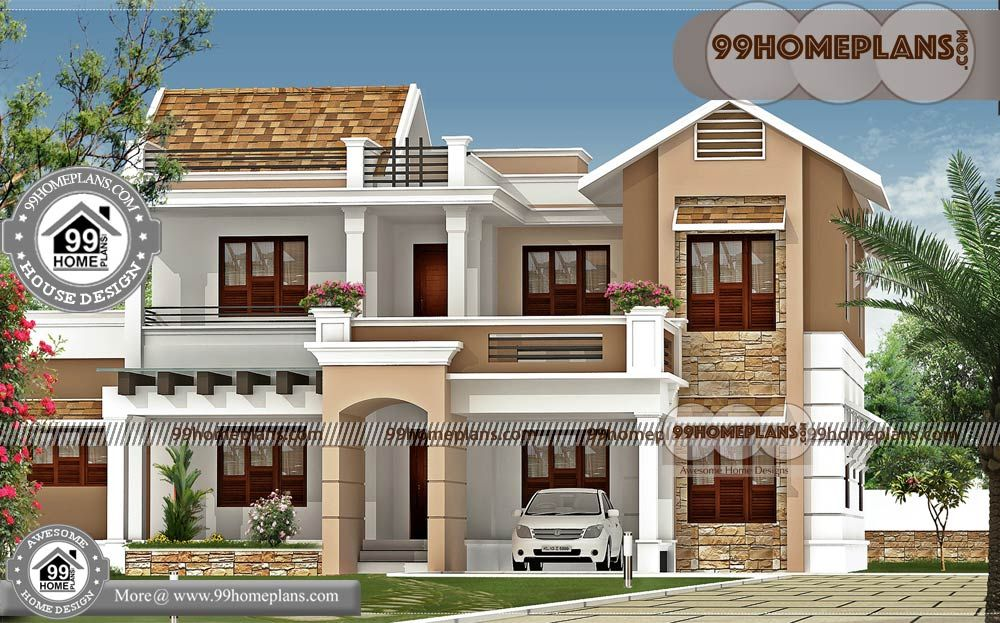 Latest House Models in India with Two Storey House Design
