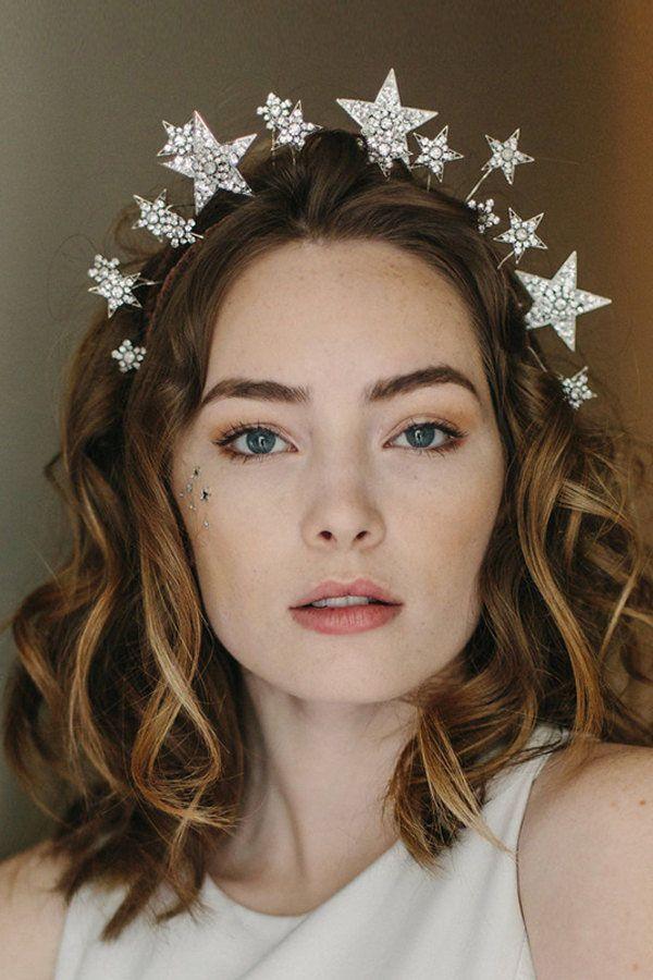 1920s tiara, star crown, wedding hair accessory - Cosmic Beauty no. 2146