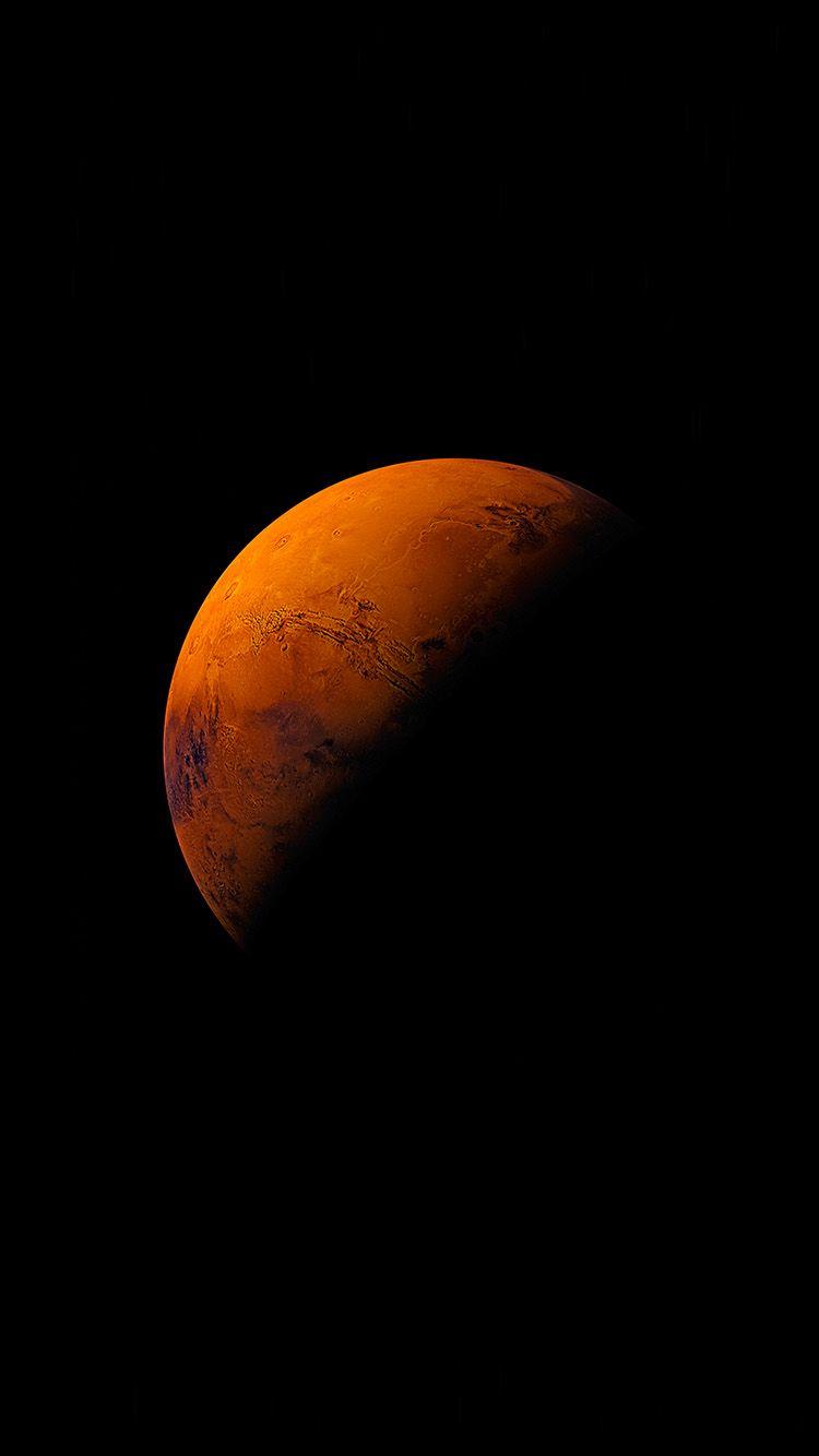 Mars Planet Apple Dark Space Orange Wallpaper Hd Iphone