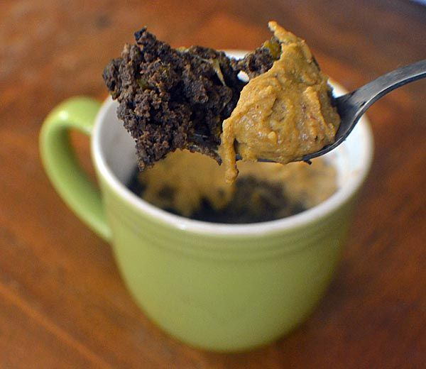 pumpkin chocolate mug cake