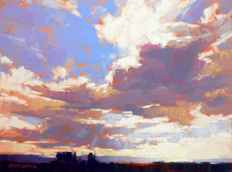 David Mensing Fine Art Who knew clouds need some red?
