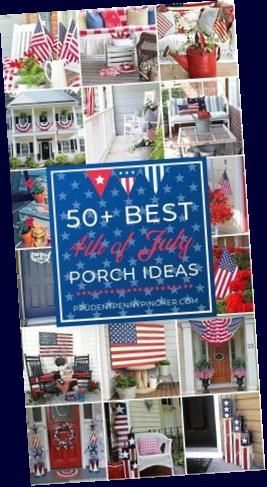 50 Best 4th of July Porch Ideas : 50 Best 4th of July Porch Ideas #4thofjuly #4thofjulydecorations #patriotic #diyhomedecor #homedecor #porchideas #summer #diy Here are some 4th of July porch ideas for your inspiration. These beautiful porch ideas will improve your curb appeal and impress your neighbors and guests. #Best #July #Porch