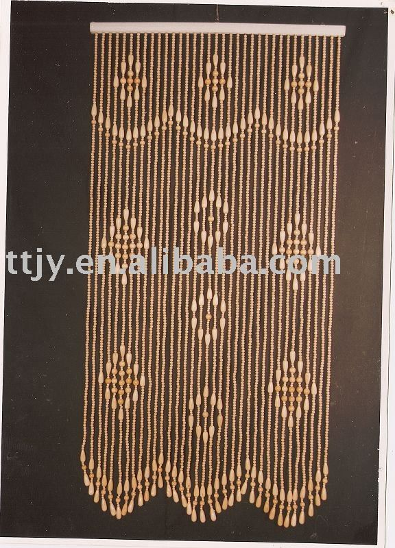 wooden bead door curtain - I am keeping an eye for just the right ones for our new 70's room.