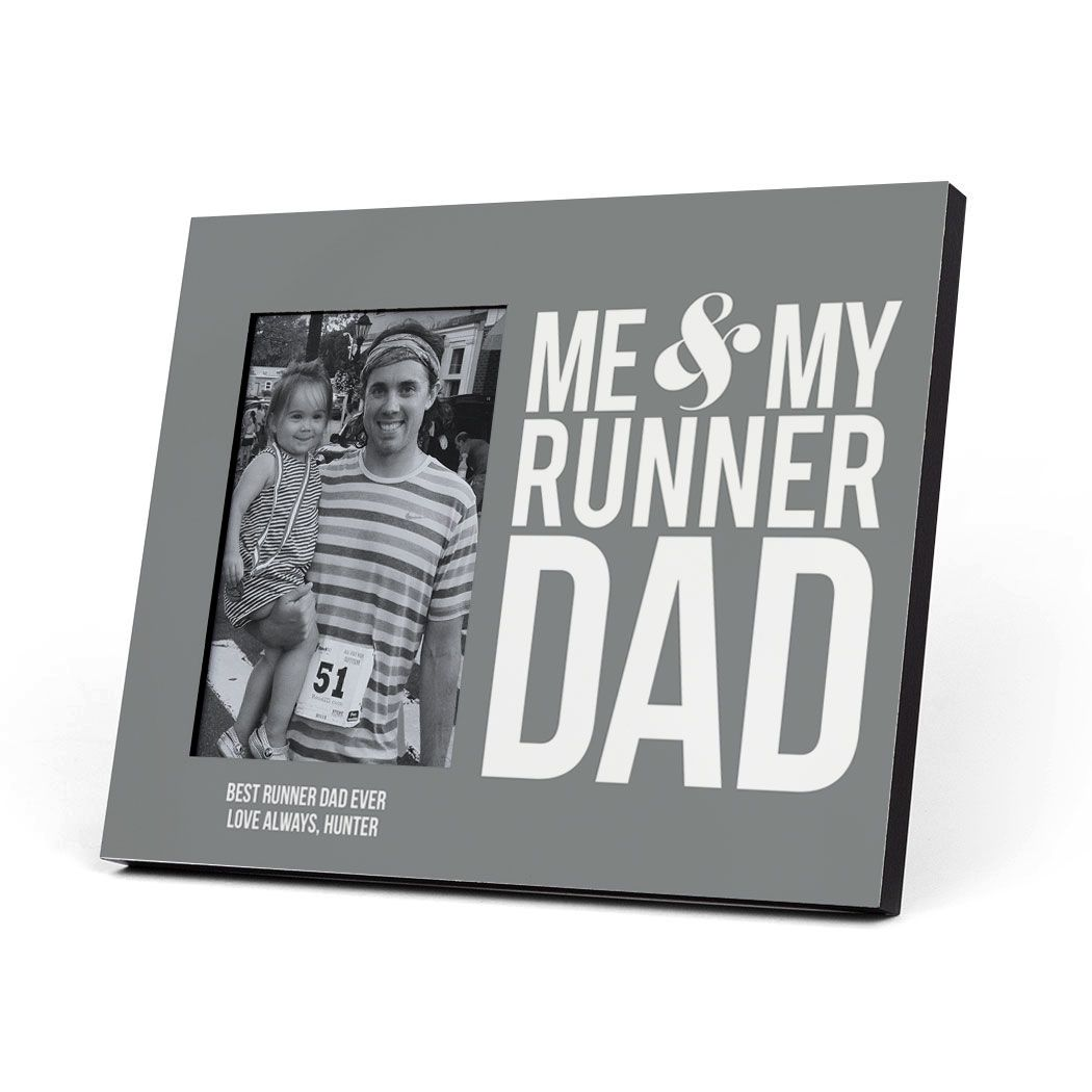 Running Picture Frame For Dad Me My Runner Dad Gray