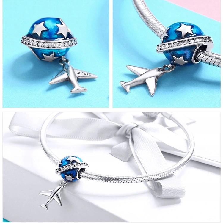 Pandora Charm Zawieszk Planeta Samolot Ziemia Kula 8359341342 Oficjalne Archiwum Allegro Blue Beads How To Make Beads Pandora Charms