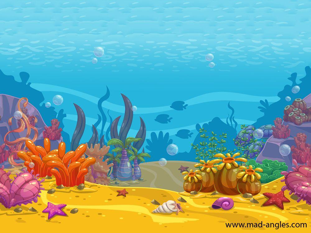 Cartoon Seamless Underwater Background Ocean Bottom Nature In 2020 Underwater Background Animation Background Animation News