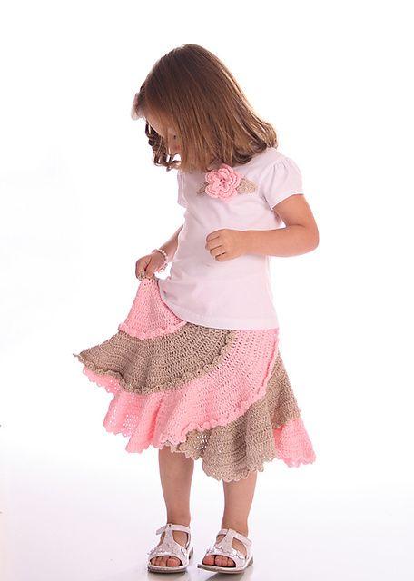 Spiral Skirt pattern by Annastasia Cruz | Kleidung häkeln, Kinder ...