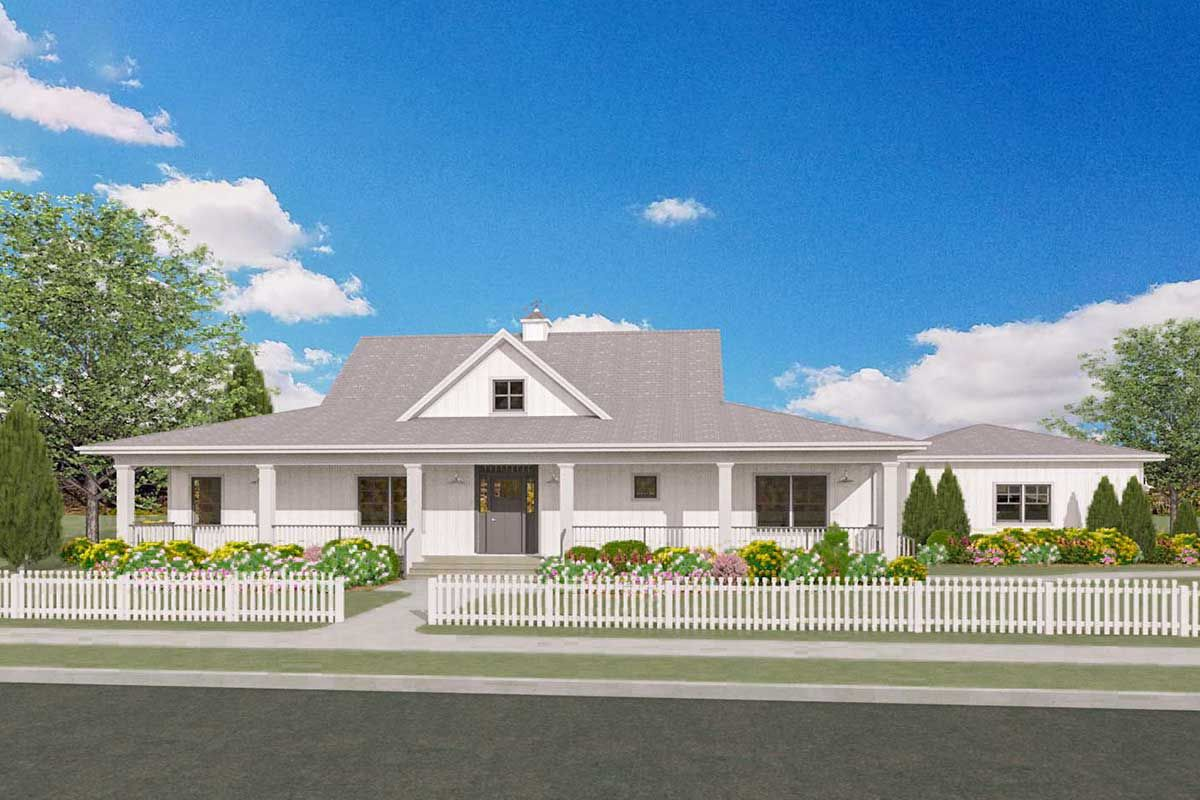 Plan 28915jj Flexible Country House Plan With Sweeping Porches Front And Back In 2020 Porch House Plans Country House Plan House Plans