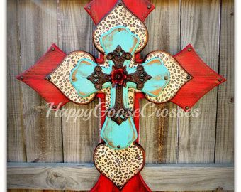 Wall CROSS Wood Cross X-Large Antiqued Black & by happygoose